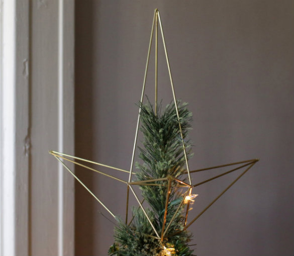 17 Apart Over On EHow DIY Himmeli Christmas Tree Star Topper - Make A Christmas Star Tree Topper