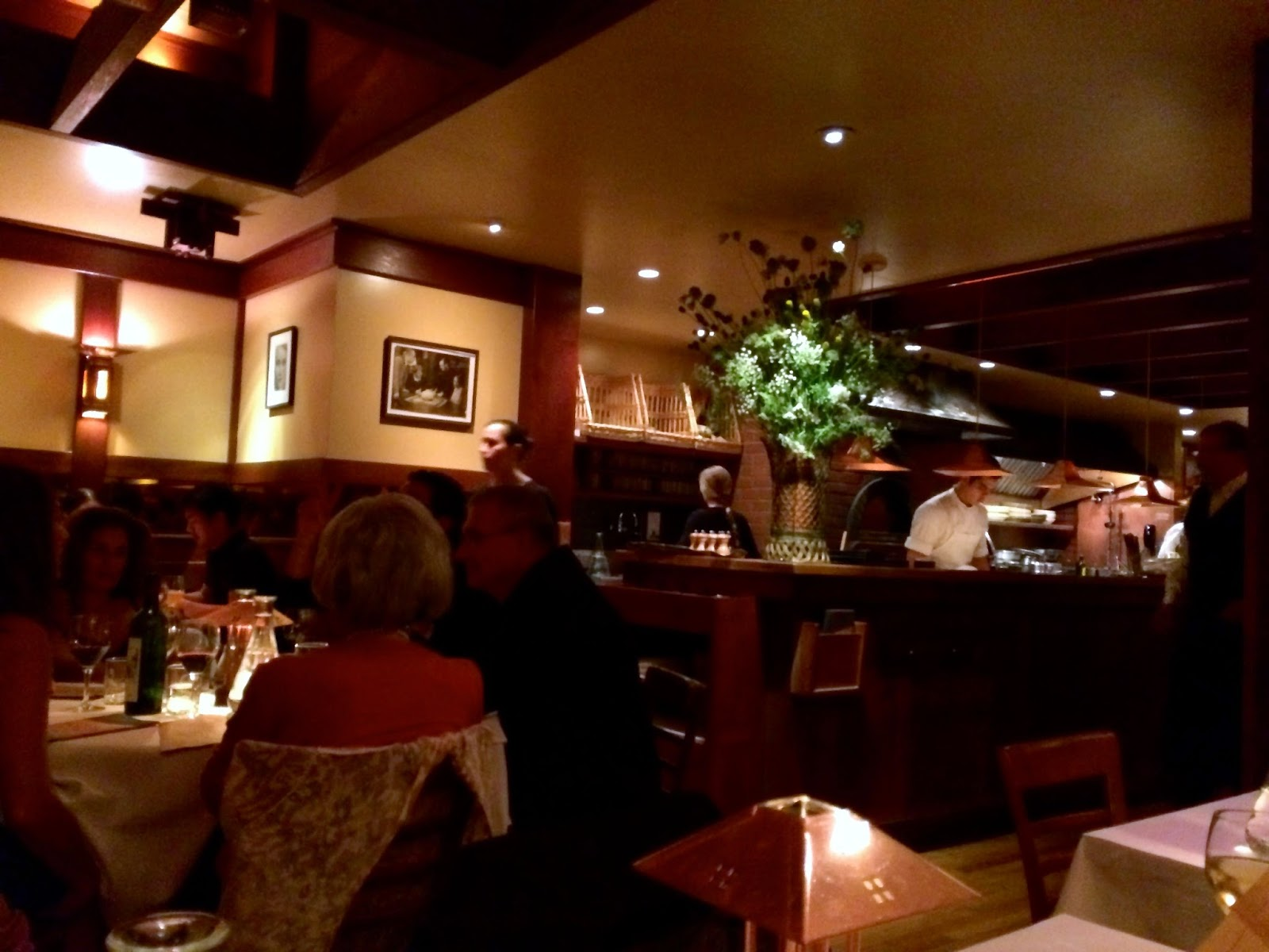 Chez Panisse Cafe on a weeknight