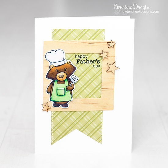 Father's Day Bear card by Christine Drogt for Newton's Nook Designs