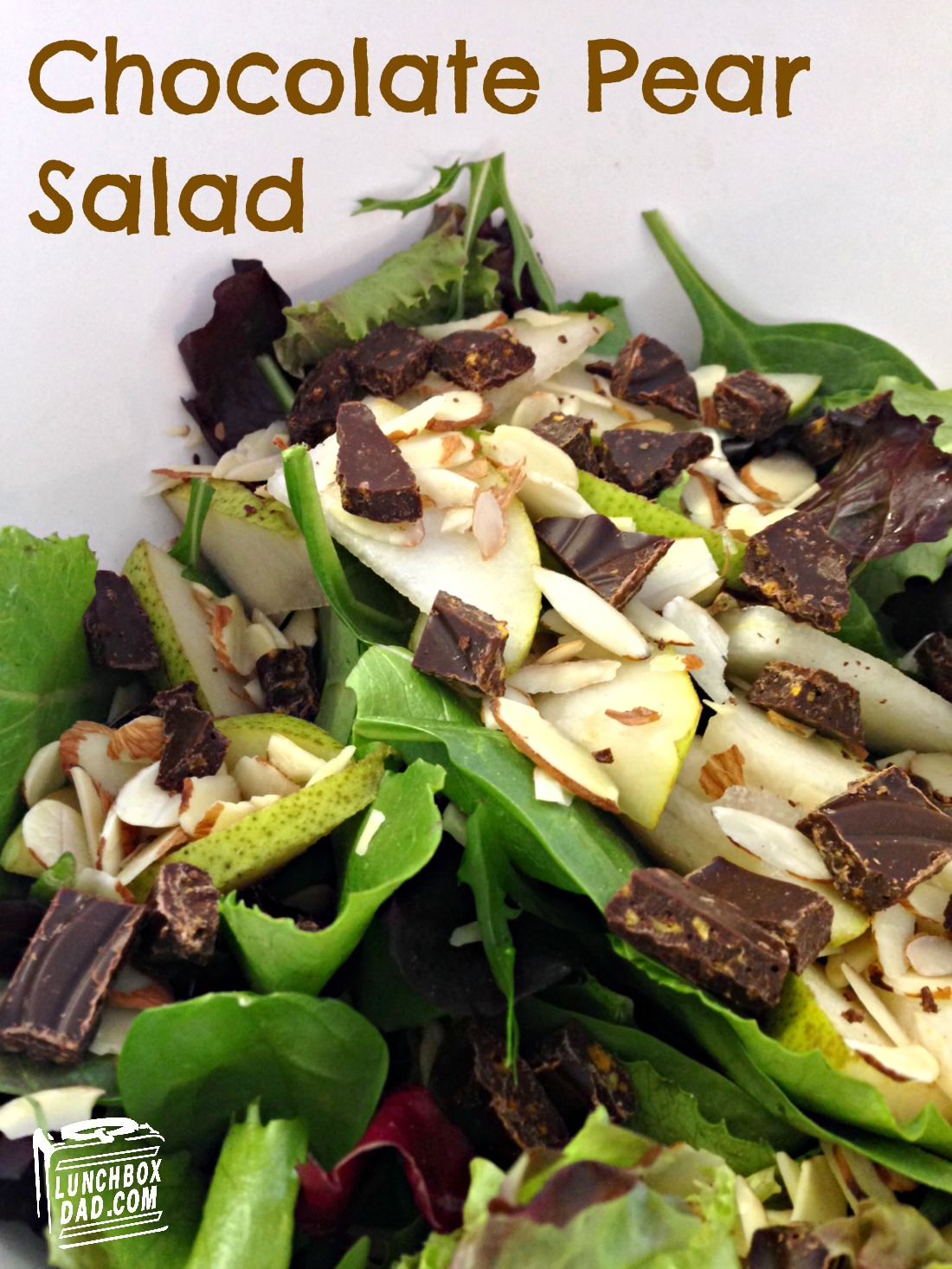 Chocolate Pear Salad with Chuao Honeycomb Chocolate