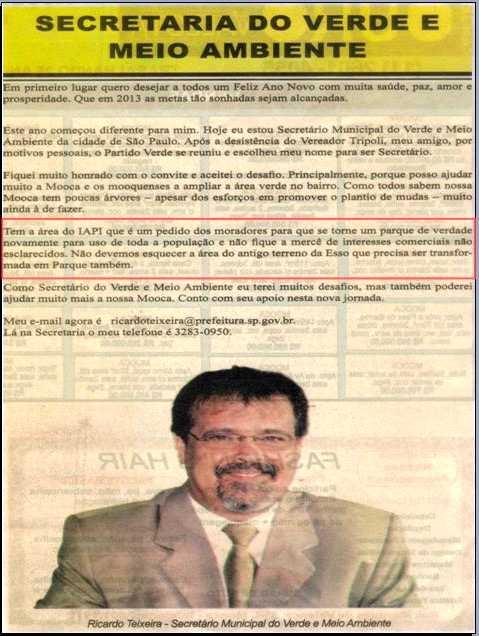 NOTA: SECRETÁRIO RICARDO TEIXEIRA -