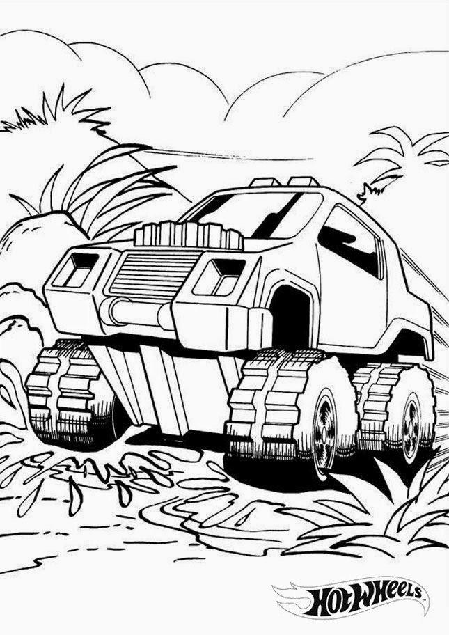 Hot Wheels Coloring Pages 27