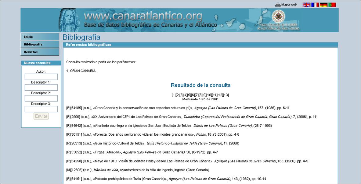 La ULPGC acoge en su servidor la Base de datos bibliográfica de Canarias y el Atlántico