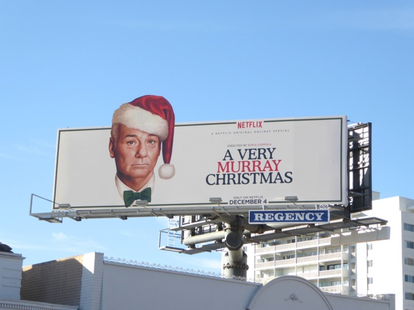 A Very Murray Christmas special billboard