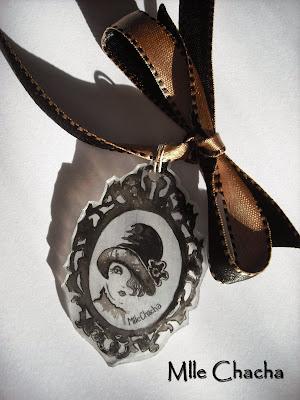 collier, pendentif, rétro, vintage, romantique, bohème, Bandeau, turban, ceinture, accessoire de mode, créateur,Mlle chacha, bandeau, col écharpe, turban, français, fait main,
