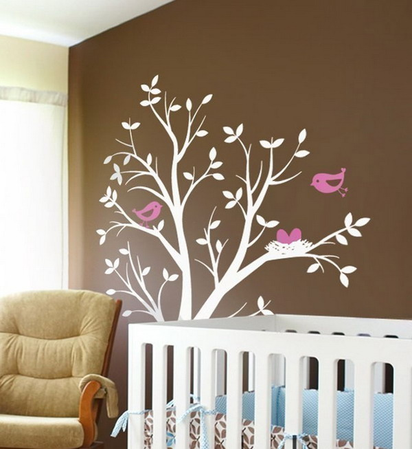 Simply home designs home interior design decor for Baby nursery tree mural