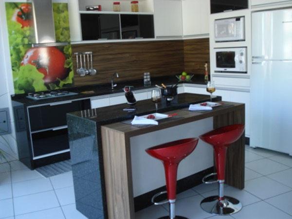 Clean Dúvida de Decoração Cozinha e Sala de Jantar Integradas