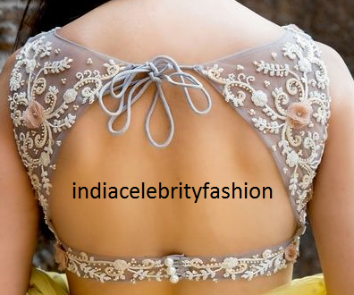 Chic Embroidery Net Blouse design