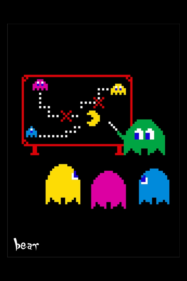 iphone desktop wallpaper pacman iphone new themes