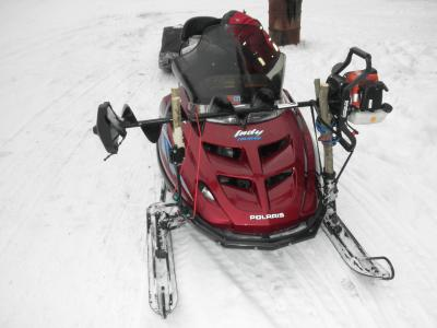 Snowmobile Ice Auger Holder8