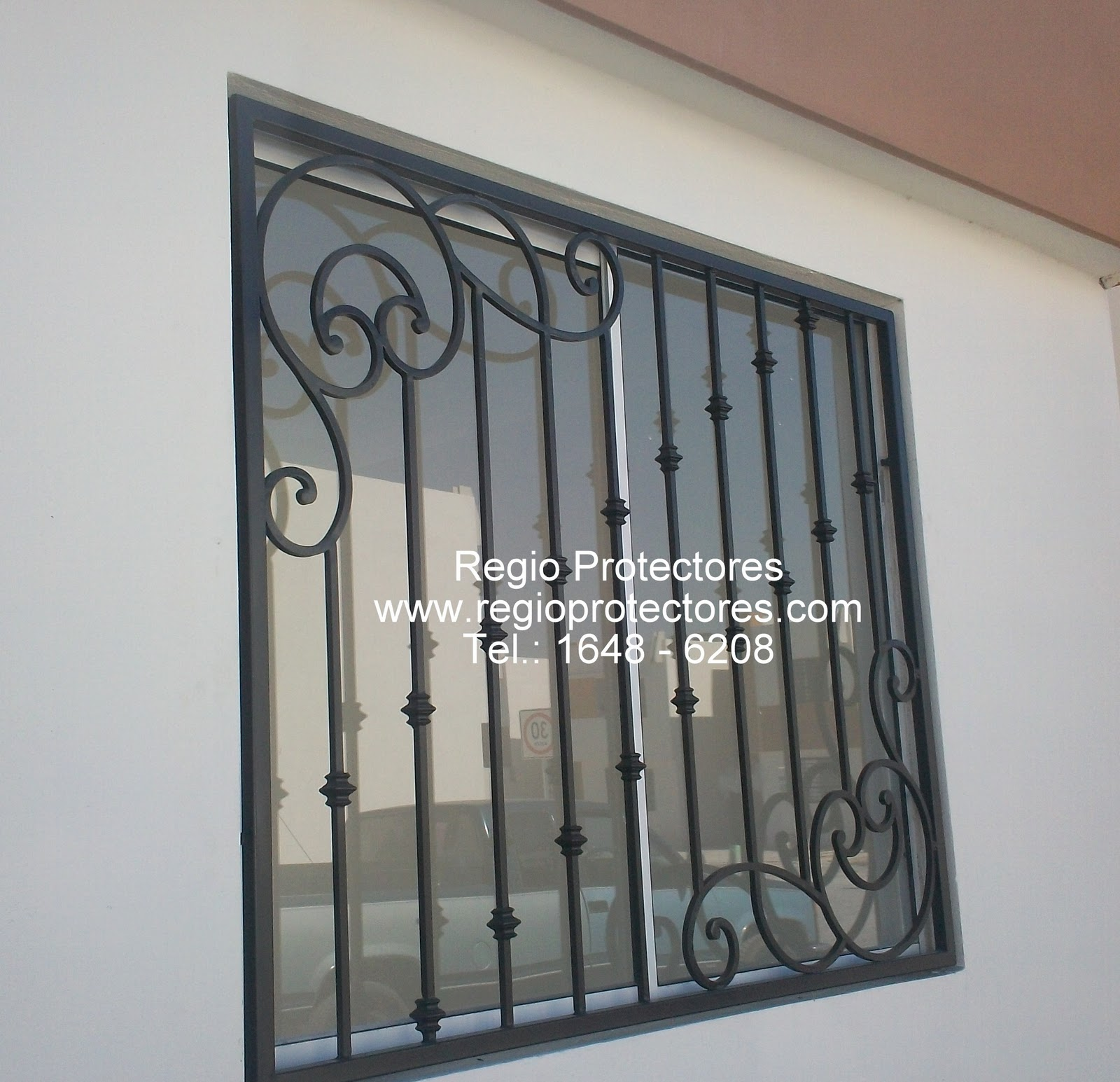 Protectores para ventana de hierro forjado instalados en el Fracc