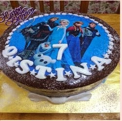 KEK BIRTHDAY TEMA FROZEN