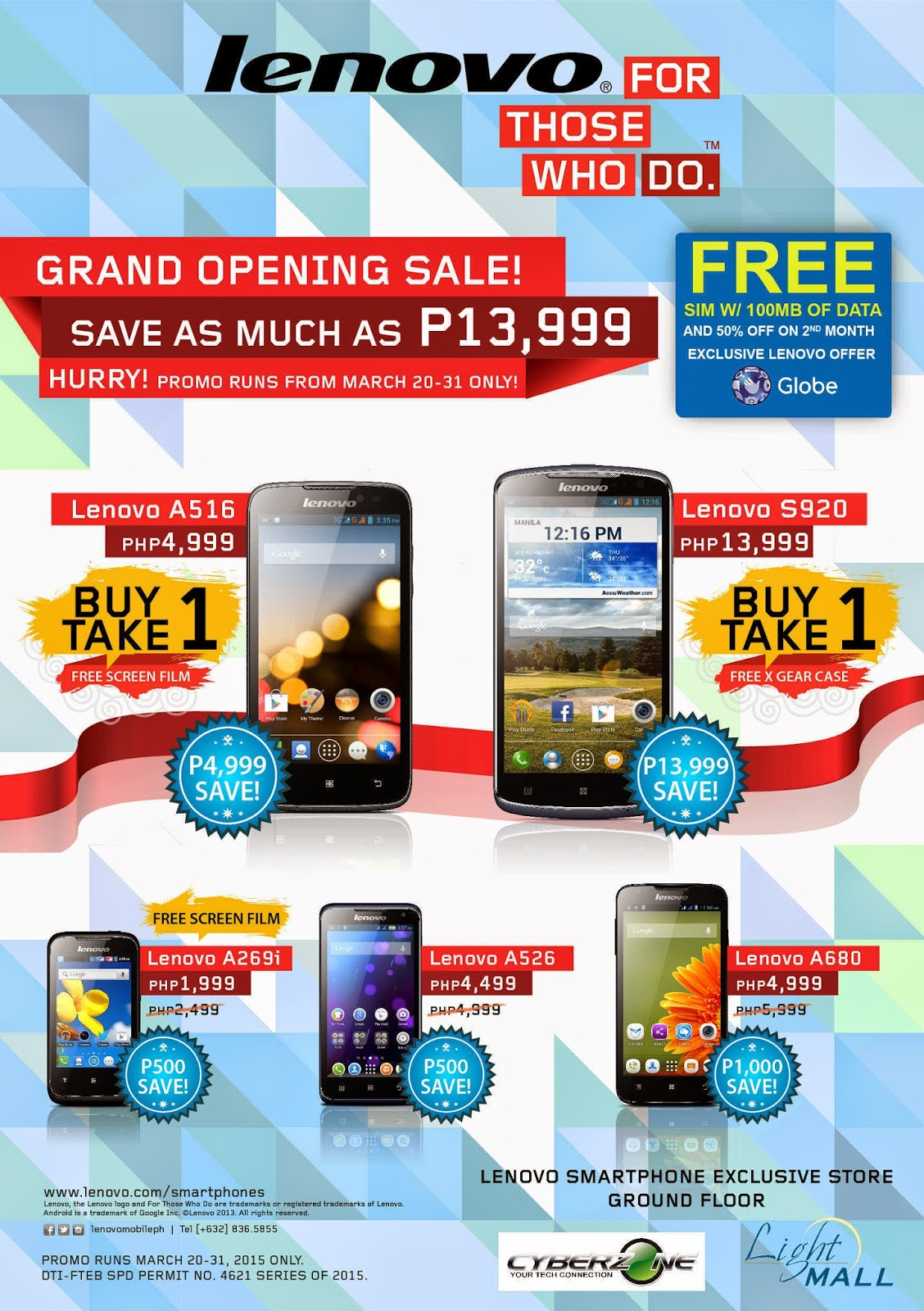 Lenovo Mobile Philippines Holds Buy 1 Take 1 Sale, Get 2 Lenovo S920s for P13,999