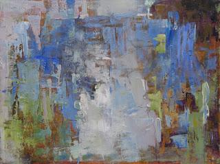 Abstract painting by Karri McLean Allrich 30x40 Bi-Coastal