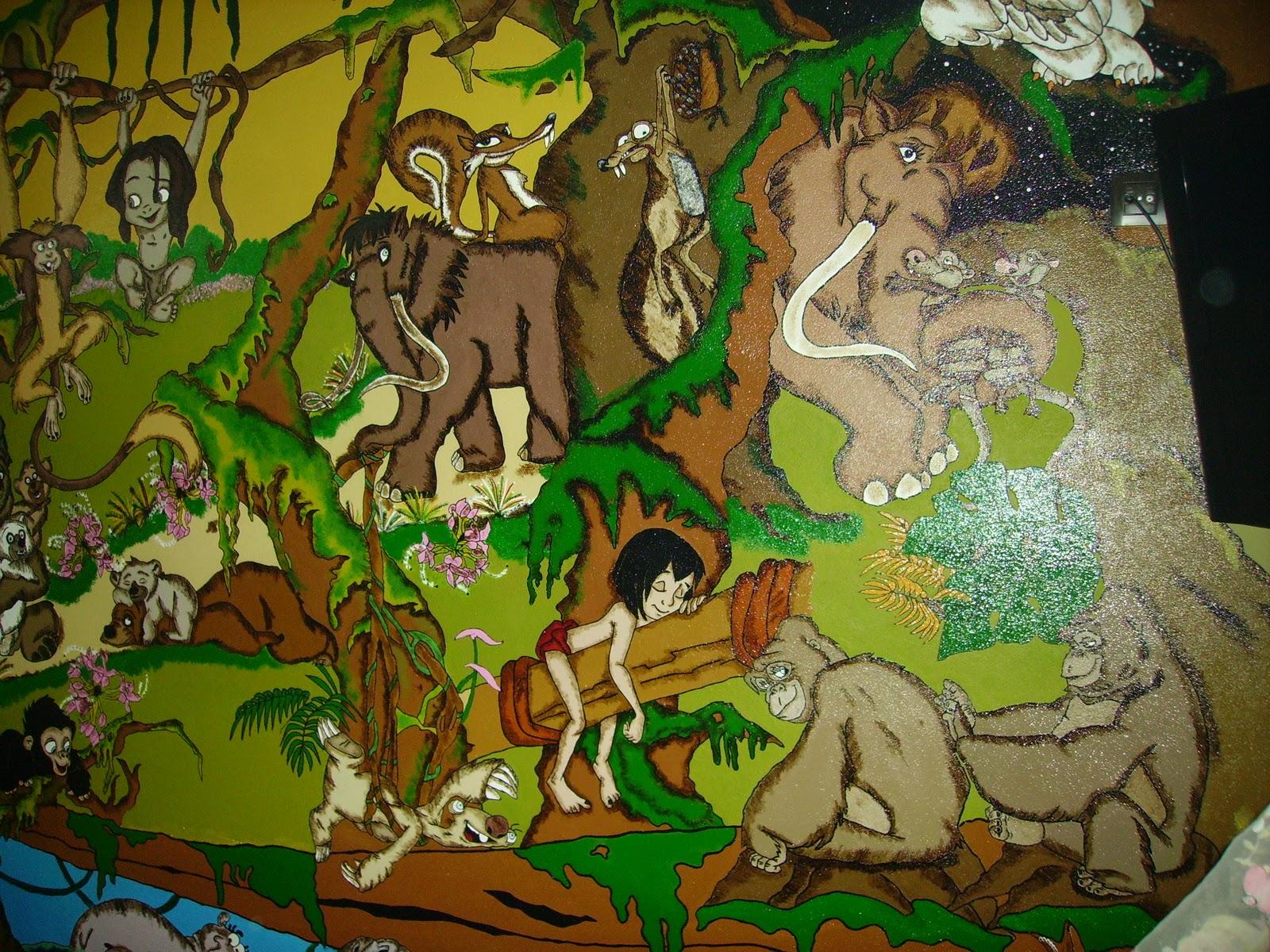 Arte en madera murales infantiles - Murales de madera ...