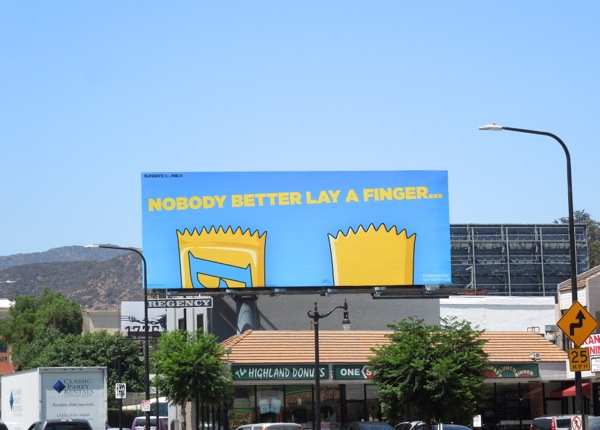 Butterfinger Bart Simpson's hair billboard
