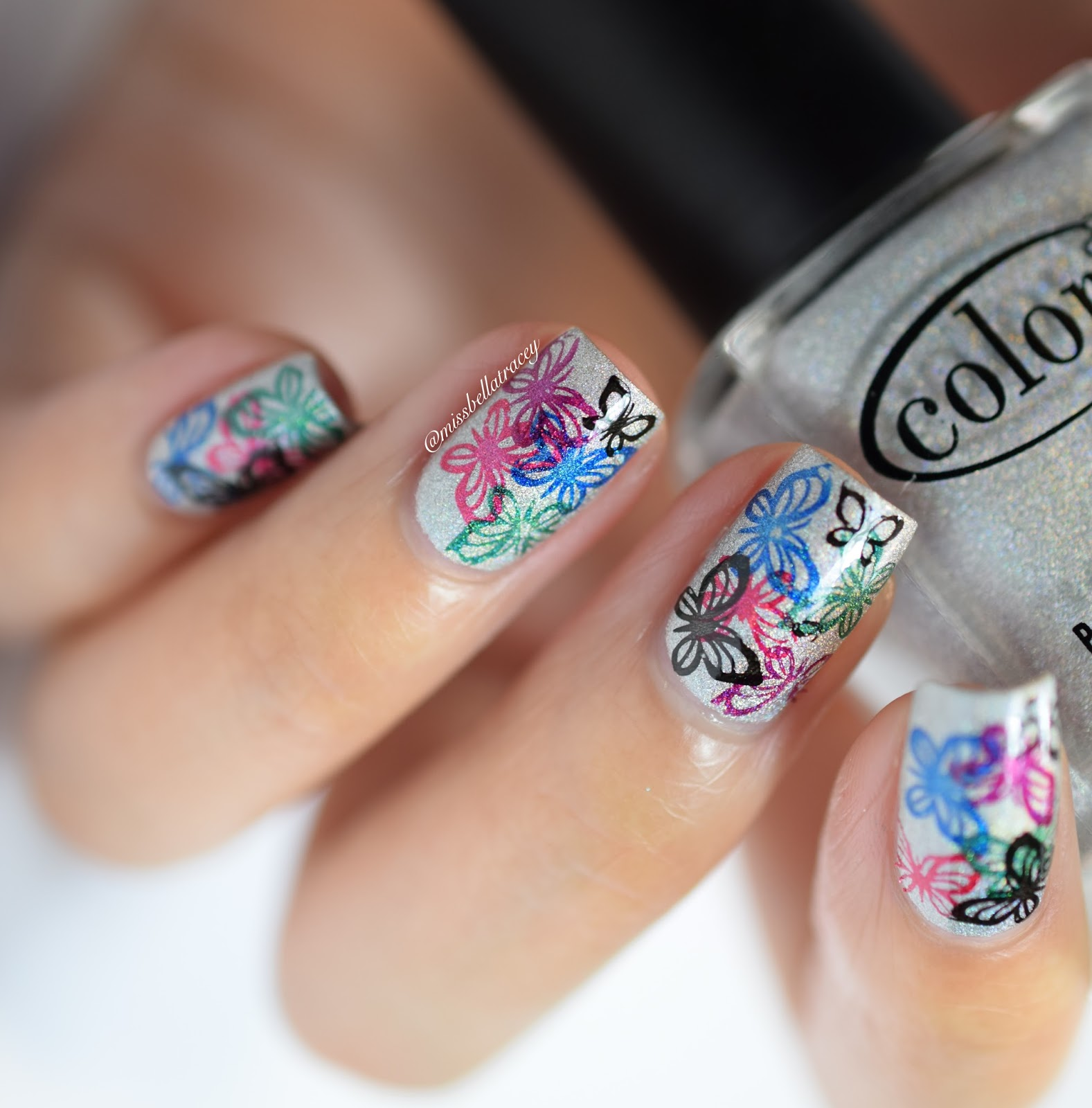 MissBellaTracey: Butterfly Stamping Nail Art With Konad Supplies