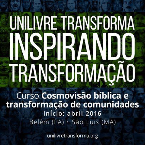 """Curso """"Cosmovisão Bíblica e Transformação de Comunidades"""""""