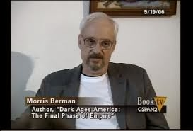 Morris Bermon ws on book TV talking about what a shitty country we have become
