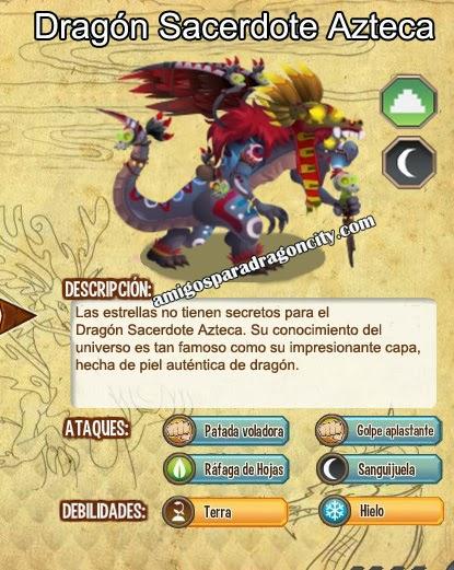 imagen de las caracteristicas del dragon sacerdote azteca