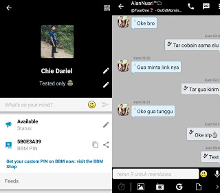 BBM Mod V8 Rasa Blackberry 2.11.0.18 Apk