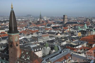 Kopenhagen - Blick vom Rathausturm