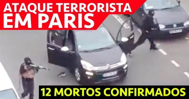 Video do ataque terrorista ao jornal francês Charlie Hebdo em Paris