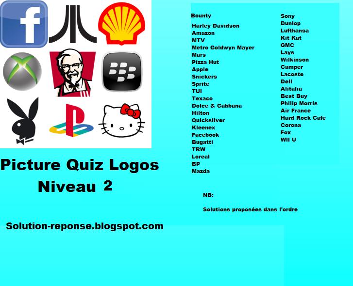 Picture quiz logos solution niveau 2