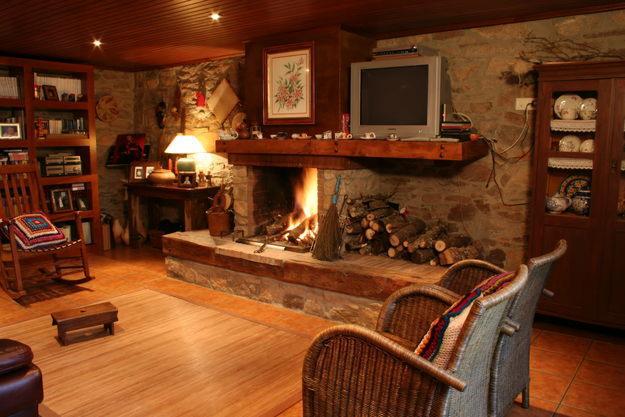 Lareira em madeira aliar o material decora o wood second chance - Casas de pladur ...