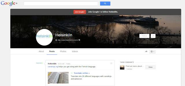HelsinkiIn on Google+