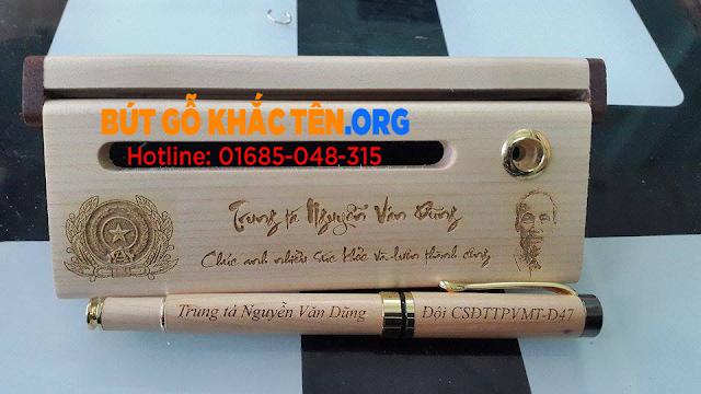 Tổng hợp các mẫu quà tặng bút gỗ khắc tên, khắc chữ đẹp tuyệt