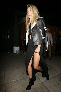 Gigi Hadid exposing her sexy nude legs at Good Person Club