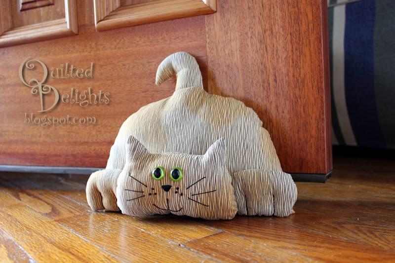 Quilted Delights Don 39 T Let The Door Stop You Blog Hop Cat Door Stoppers