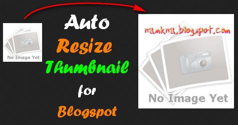 Tăng độ phân giải ảnh thumbnail của blogger