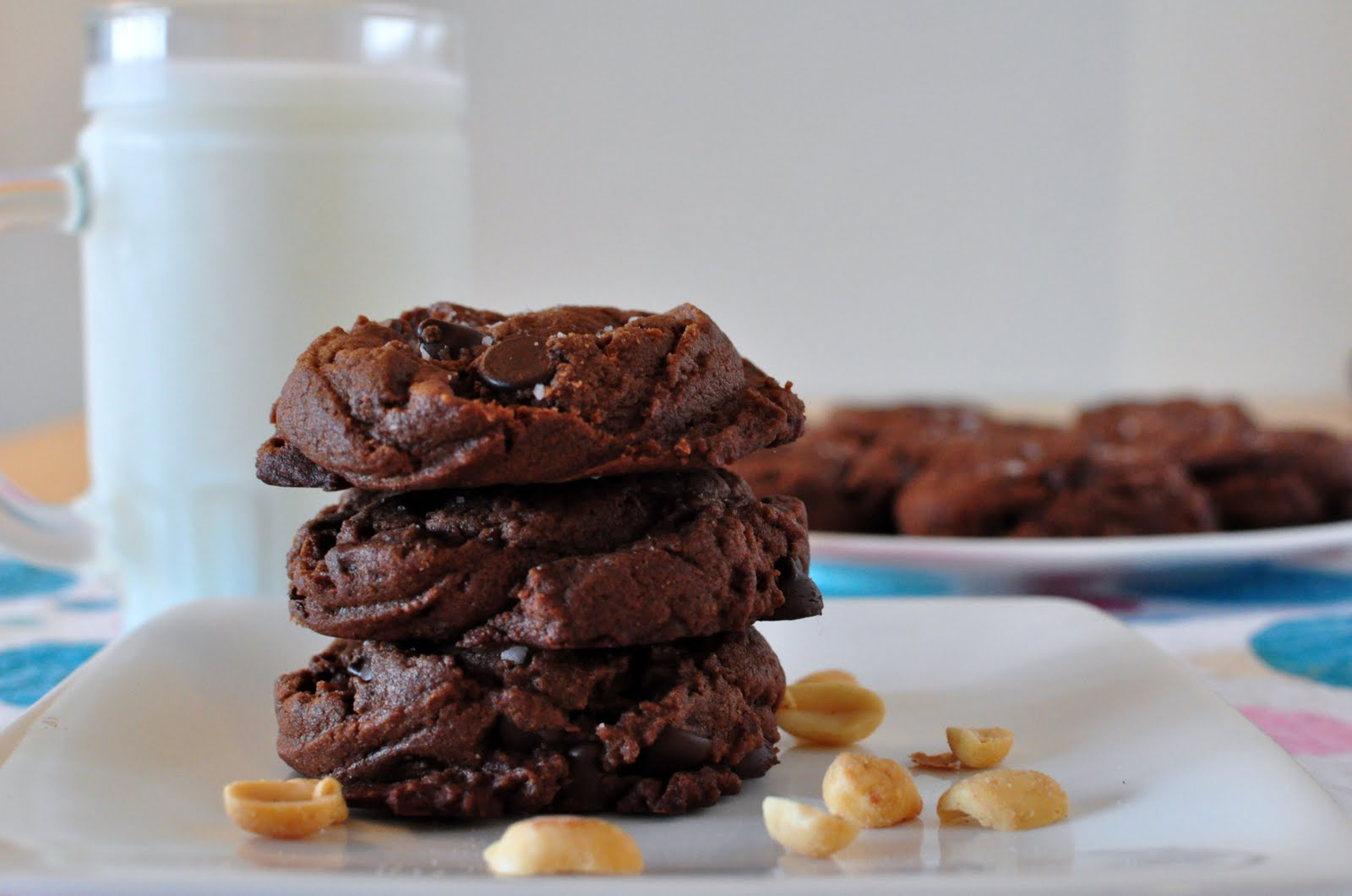 My Tiny Oven: Salted Double Chocolate Peanut Butter Cookies