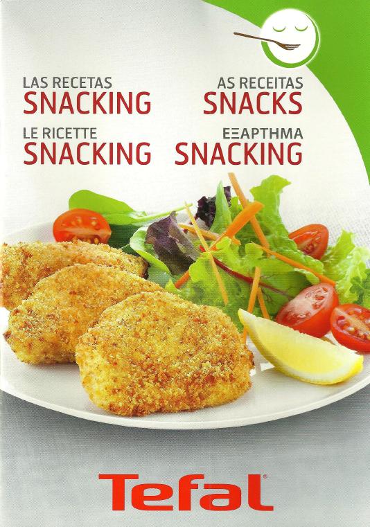 Livro receitas actifry snacking