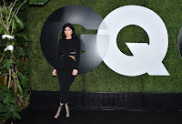 Kylie Jenner sexy sheer cutout dress at 2015 GQ Men Of The Year Party photos