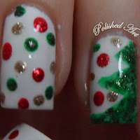 Christmas-nail-art-tree