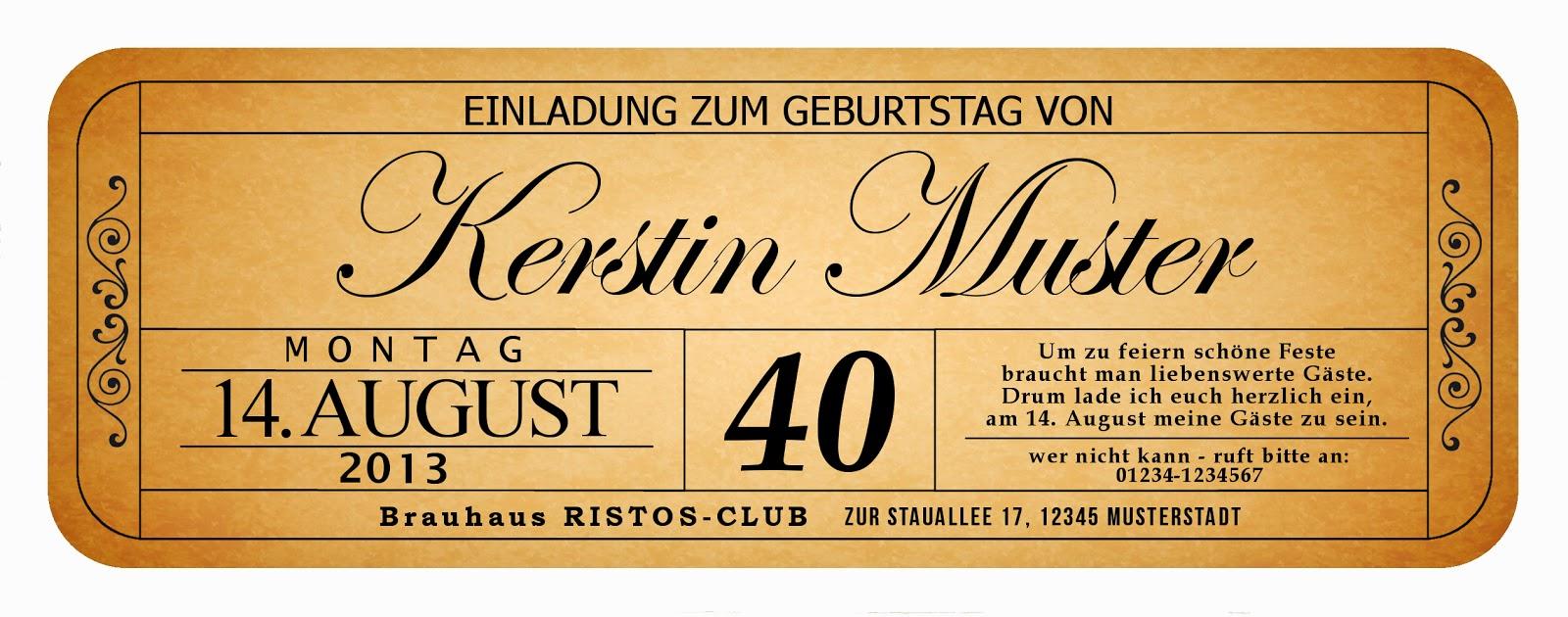 Originelle Einladungskarte Zum Geburtstag