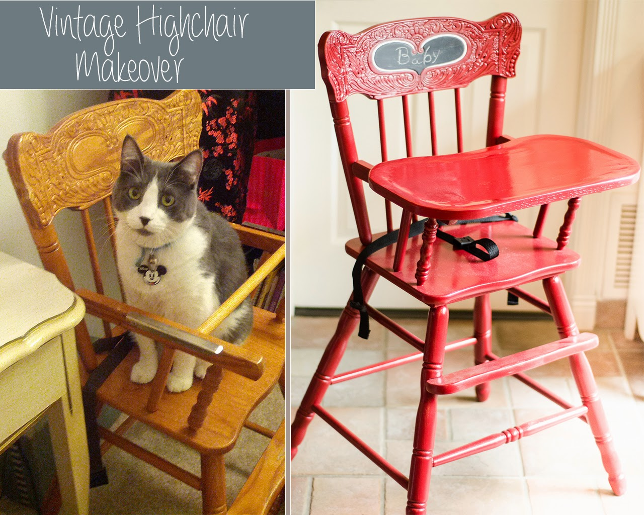 Refinishing A Vintage High Chair