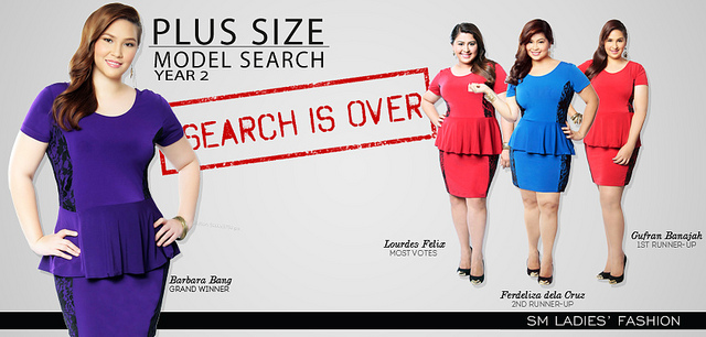 sm ladies' fashion plus size model search year 2! | drowning
