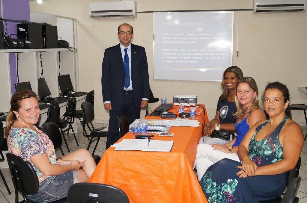 Técnicos da educação municipal participam da Oficina de Capacitação do Ministério Público do Trabalho