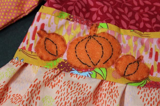 felt pumpkin appliques