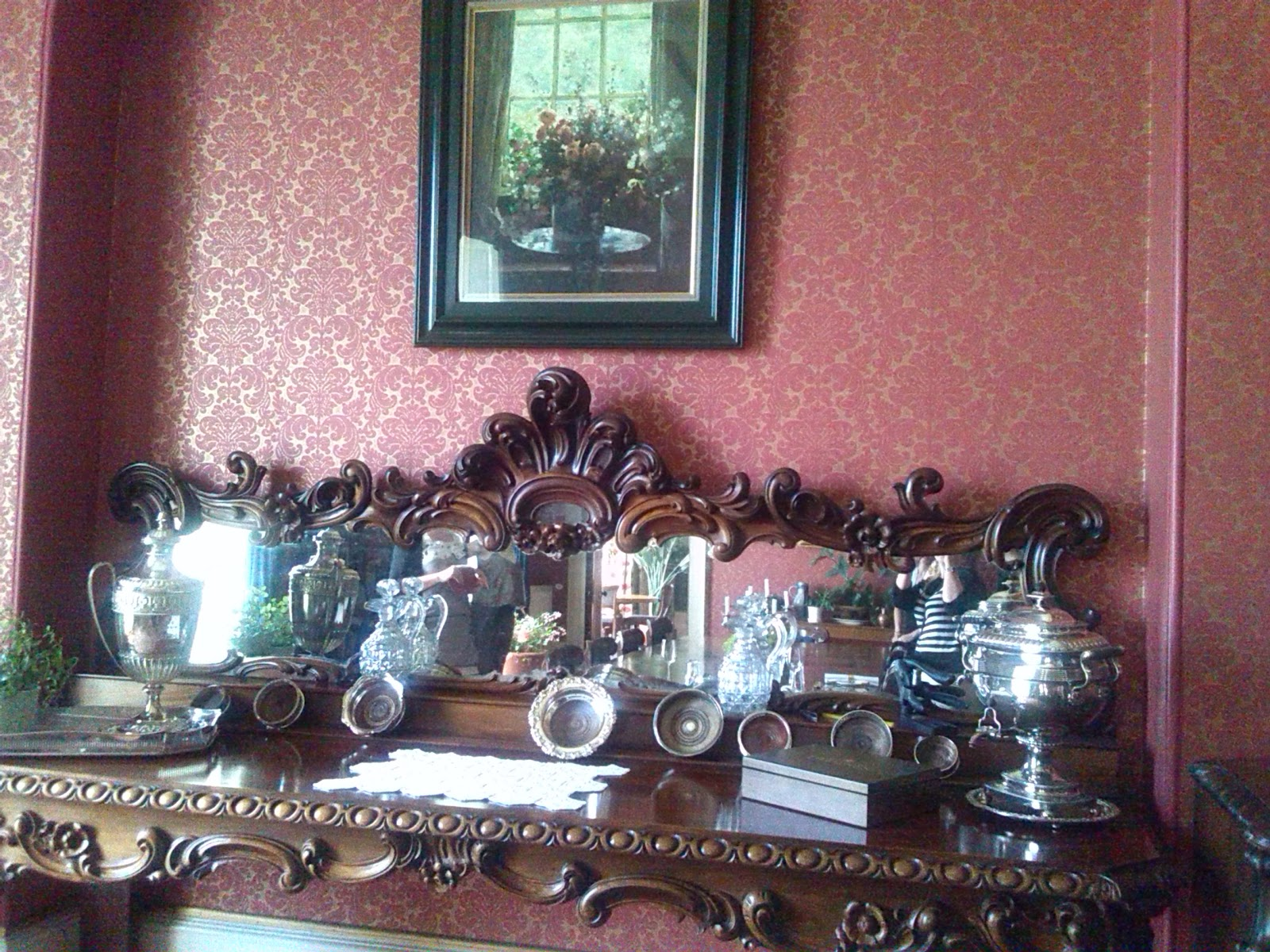 Dining room of Ballinkeele House