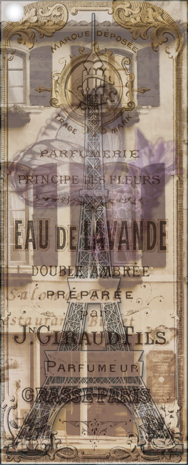 Free Printable Bookmark Vintage Paris