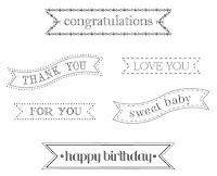 Stampin'UP! Itty Bitty Banners Stamp Set