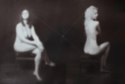 Two Women, 2011, Salt print, 13 x 19 in