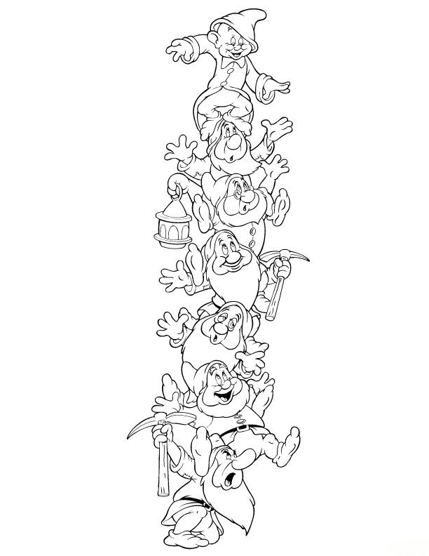 Free Coloring Pages Of Dopey Dwarf Seven Dwarfs Colouring Pages
