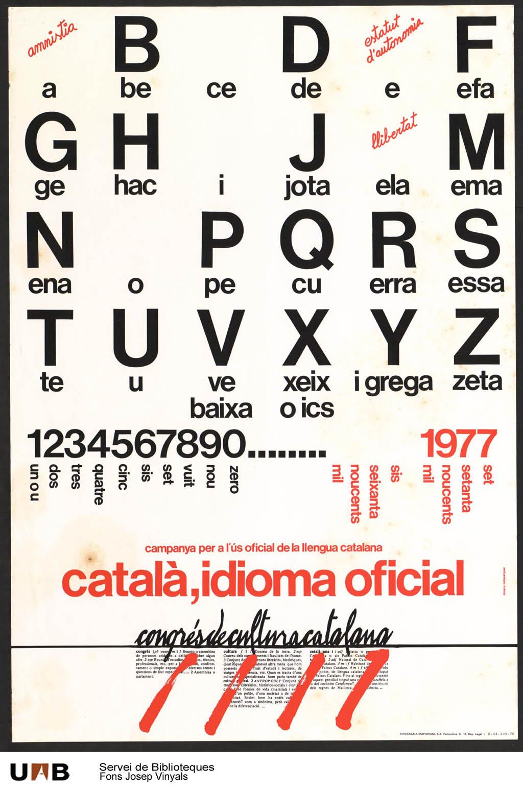 Congrés de Cultura Catalana by Josep Vinyals (1977)