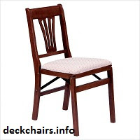 Wood Urn Back Stakmore Folding Chairs